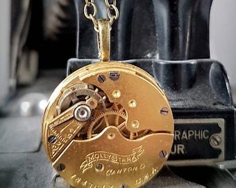 Molly Stark Vintage Pocket watch Pendant - circa 1903 - Steampunk Timeless Relic