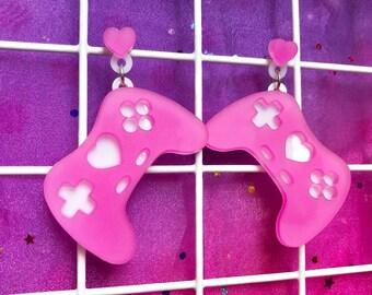 GeekyGlamorous Earrings - Bubble Gum