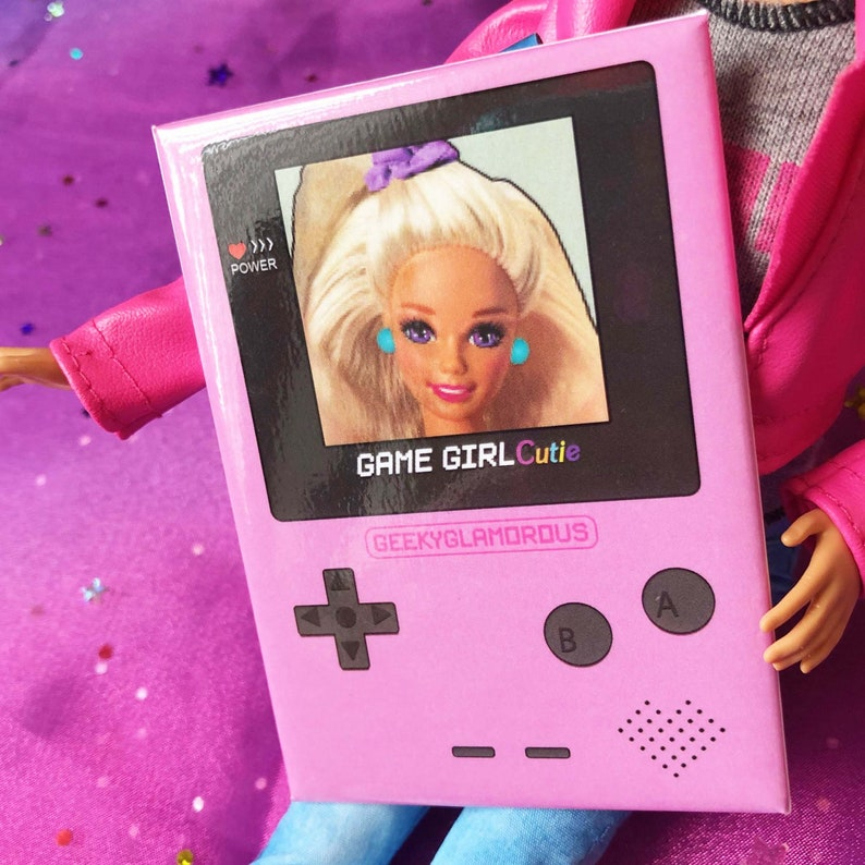 Game Girl Cutie Oversized Button image 0