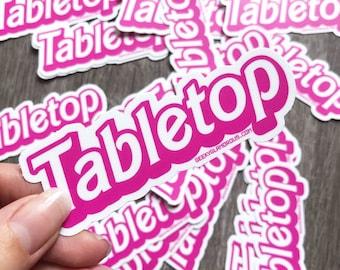 Tabletop Sticker
