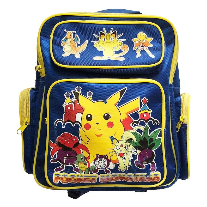 Vintage Pokemon Pikachu Backpack Bag image 0