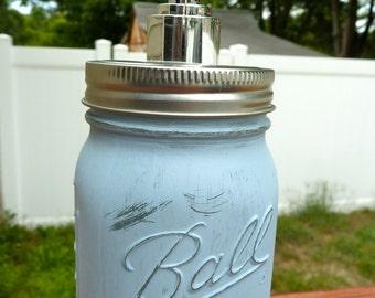 Mason Jar Soap Dispenser, Rustic Soap Dispenser, Distressed Mason Jar, Rustic Bathroom Decor, Housewarming Gift, Rustic Decor