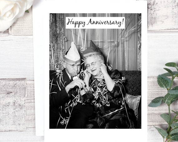 Card #224. Anniversary Card. Happy Anniversary! Congratulations Card. Wedding Anniversary. Card From Us. Greeting Card. Funny Cards.