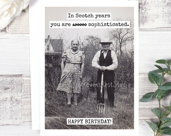 Funny Birthday Card. Card For Scotch Lover. Sarcastic Card. Funny Greeting Card. Card For Him. Card For Husband. Card For Dad. Dad.Card #593