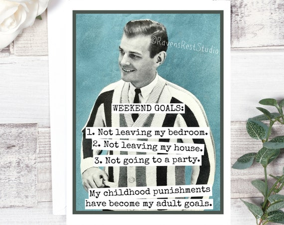 Funny Greeting Card. Card For Him. Father's Day Card. Man Gift. Dad Quote. Vintage Photo Vintage Knit. My Childhood Punishments... Card #533