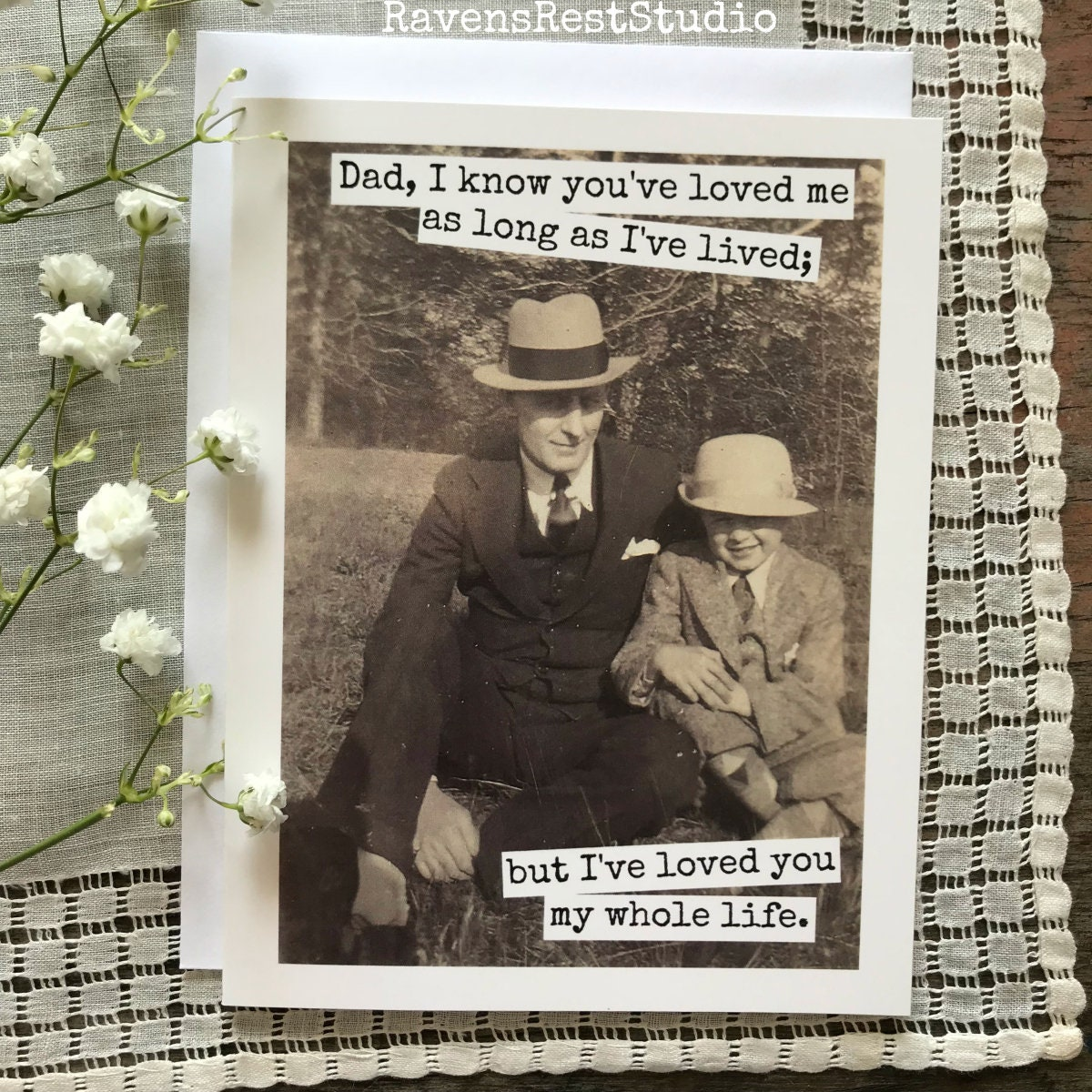 Whole Life Quote Calculator: Father's Day Card. Dad Quote. Vintage Photo. Dad, I Know