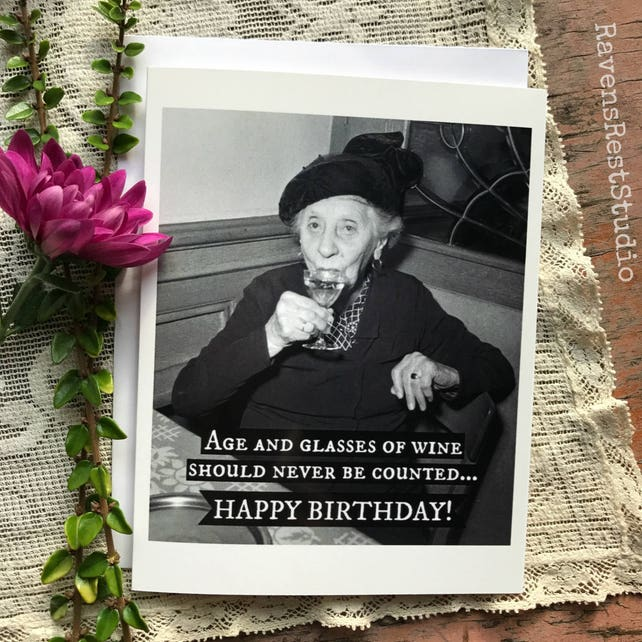 Birthday Cards Wine Photos Retro Funnypictures Picturesboss