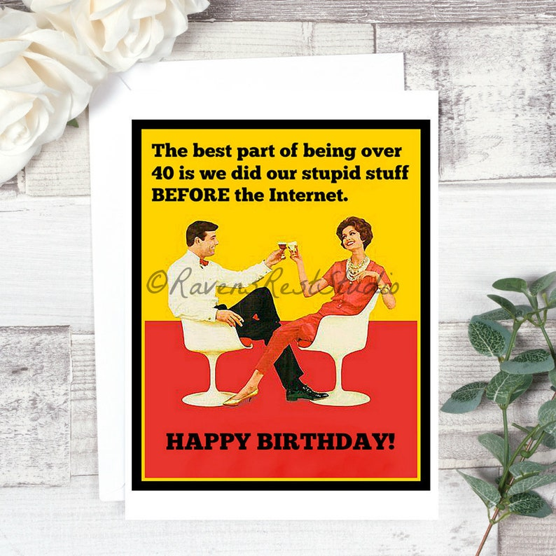 Card 264 Funny Birthday Greeting Card The Best Part Of Etsy