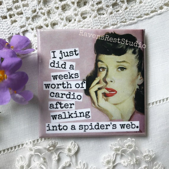 Funny Fridge Magnet Photo Booth Gift For Her Vintage Photo Friendship Housewarming Gift Fuck It...My Final Thought Before Magnet #186
