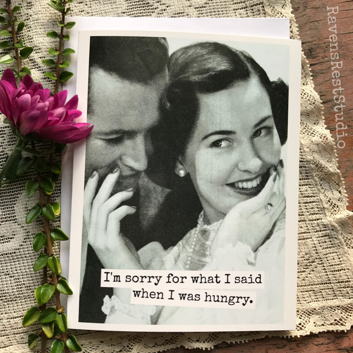 Funny Greeting Card Husband Card Wife Card Sorry Card Vintage