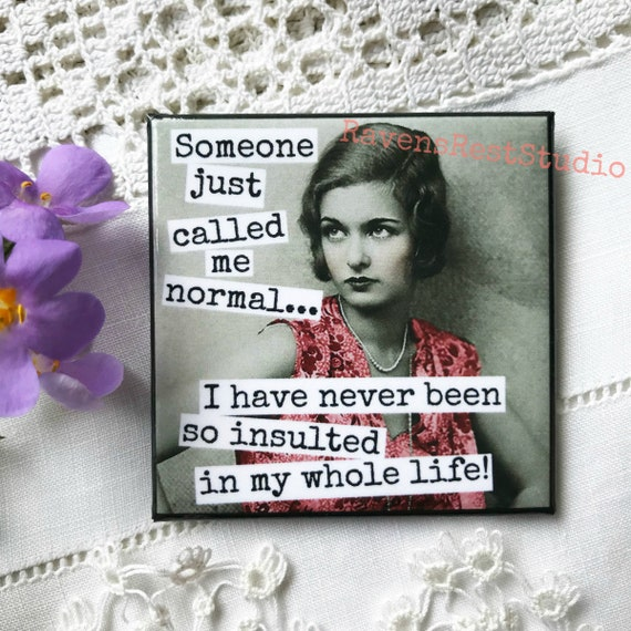Magnet #182. Someone Just Called Me Normal... I Have Never Been So Insulted In My Whole Life!