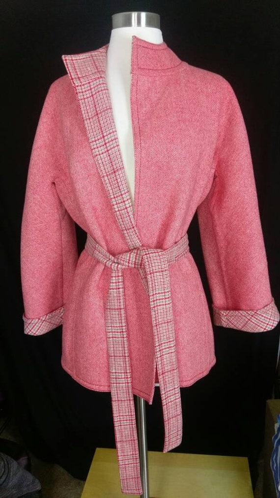 Christian Dior Diorling Red & Gray Tweedy Wool Bel