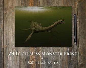 Loch Ness Monster A4 print