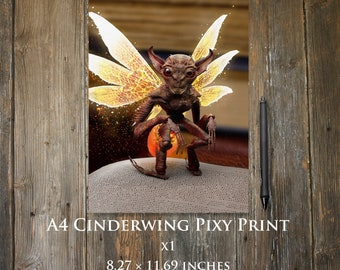 Cinderwing Pixie A4 print