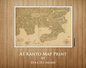 A1 Kanto Map