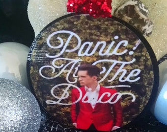 panic at the disco christmas ornament personalized