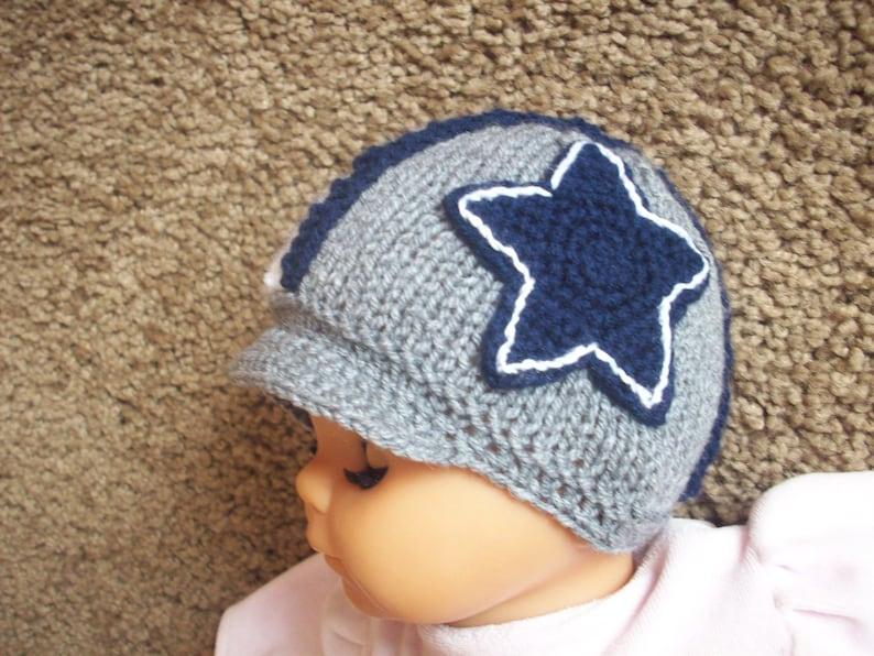 1e09b0ef0413c6 Newborn photo prop Dallas Cowboys helmet hat newborn knit | Etsy