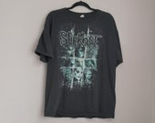 Rare Vintage Y2K Slipknot Masks Concert Tour Anvil March Tee True Faded Distressed Size XL