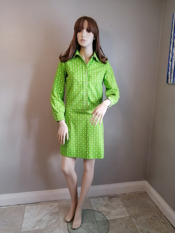 Vintage 1960s Mod // CORKY CRAIG // Groovy Lime Gr