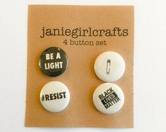 """Resist 4 @ 1"""" Button Set"""