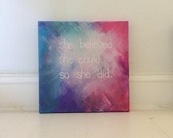 Elle a considéré comme elle a pu, alors elle fait peinture