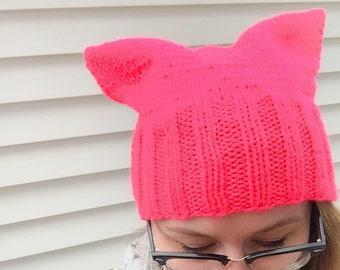EN STOCK-NEON Pink Pussy chapeau