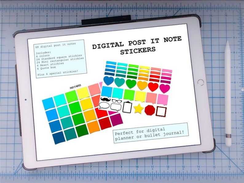 Digital Post it Notes Stickers image 0