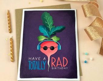 NOTECARD FREE SHIPPING! Rad Birthday