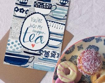 Just My Cuppa Tea card