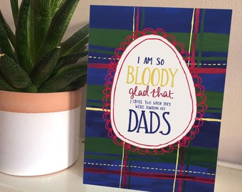I'm so glad I chose you Father's Day card