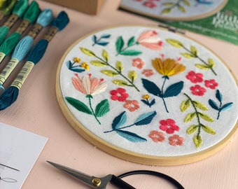 Citrus Blooms Floral DIY Embroidery Kit