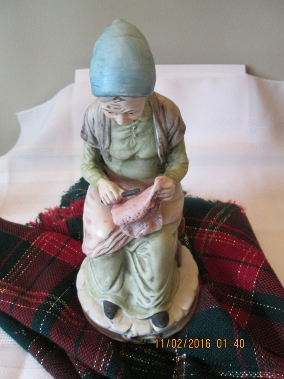 Vintage Homco Old People Collection Home Decor Elderly Woman Etsy