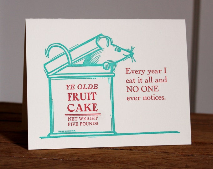 "Letterpress Holiday Card: ""Every year..."""