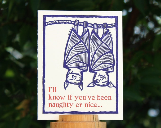 "Letterpress Holiday Card: ""I'll know..."""