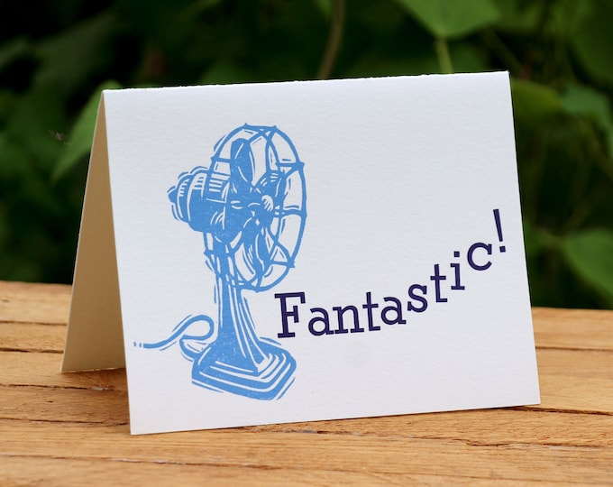 "Letterpress Greeting Card: ""Fantastic"""
