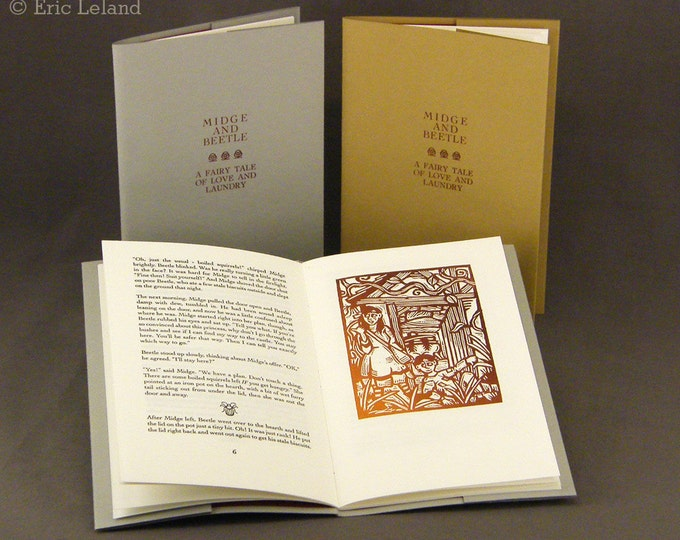 Midge and Beetle: an original illustrated fairy tale, printed and bound by hand