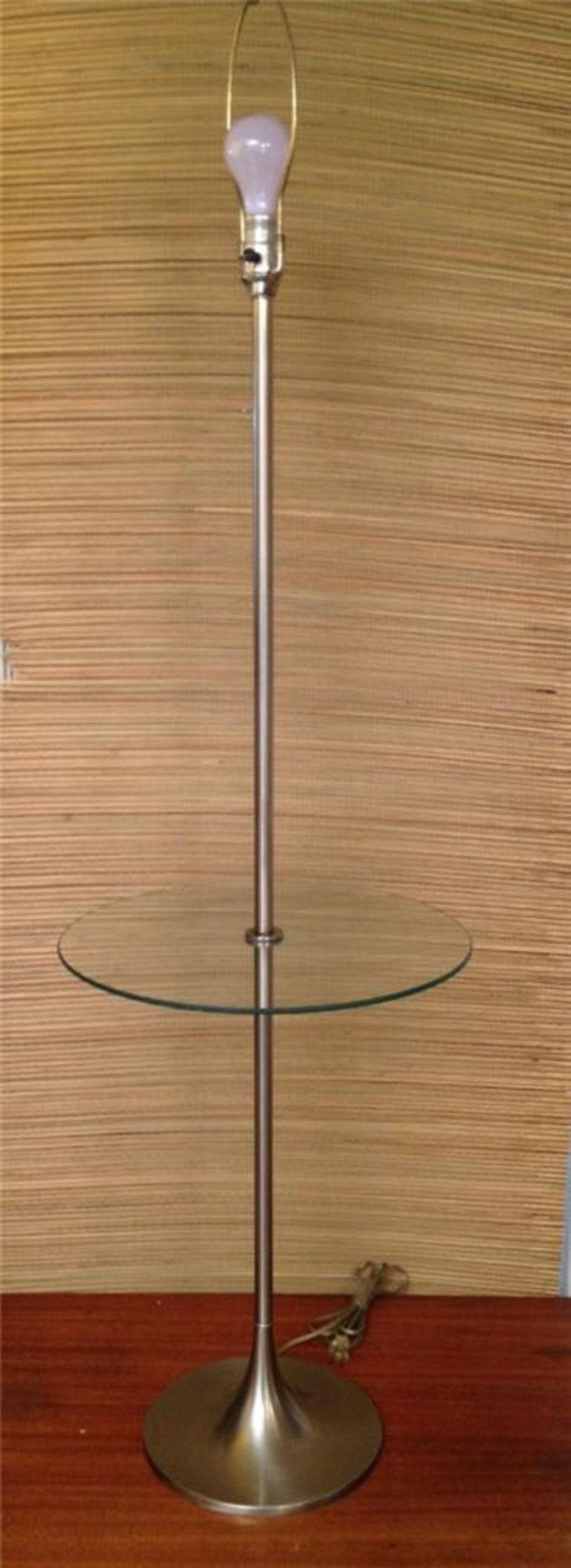 Vintage Laurel Floor Lamp TABLE Nickel Tulip Base Mid-Century Modern 1960/'s Saarinen Eames Era