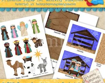 Mini nativity | Etsy
