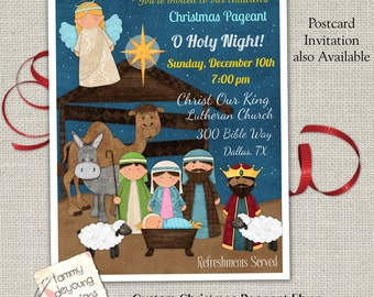 Free Printable Christmas Plays Church.Christmas Pageant Etsy