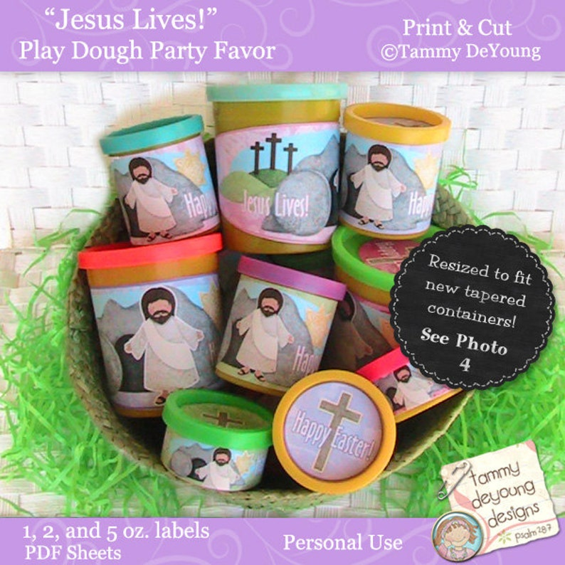 Religious Easter Basket Party Favors Christian printable image 0