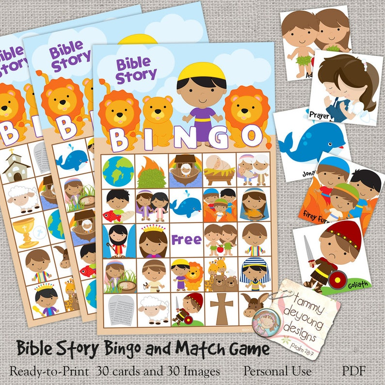 Digital Bible Bingo, Printable Sunday School Bingo Game, Jesus Bingo for  Kids, Christian party game, Bible Story activity, religious game