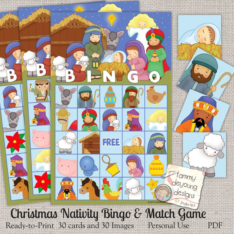 photo regarding Holiday Bingo Printable titled Nativity Xmas Bingo Sport, Bingo Printable Trip Bingo, Spiritual Xmas Occasion Recreation, Preschool recreation, small children Xmas occasion