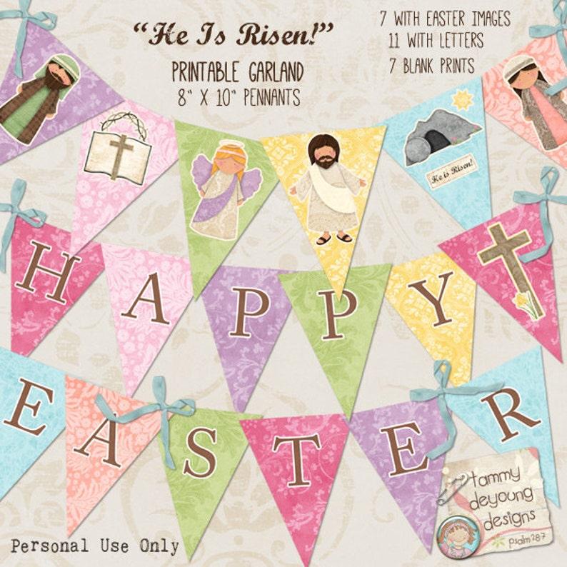 Easter Garland Instant Download Easter Banner Easter image 0