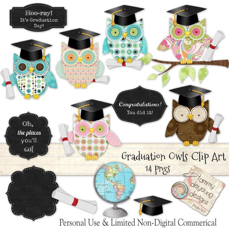Graduation Clip Art Graduation Owls clipart Preschool image 0