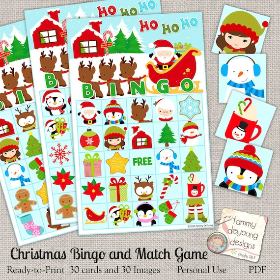 photograph relating to Holiday Bingo Printable referred to as Xmas Bingo Video game, Printable Family vacation Bingo Playing cards, North Pole, Santa Youngsters Match Social gathering desire, wintertime bingo preschool clroom match