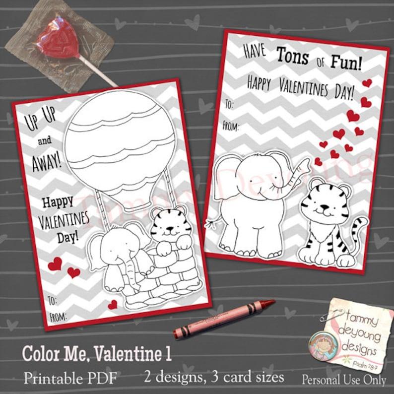 Coloring Valentines for Kids Boy valentine Girl Valentine image 0