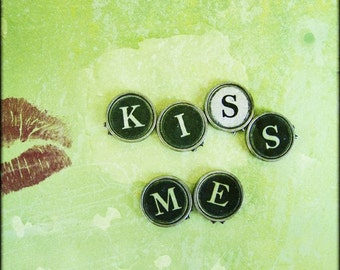 Kiss Me Vintage Photography Art 10x10 Print