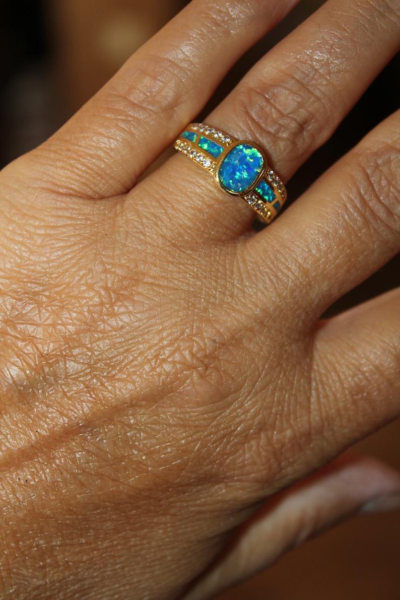 Opal ring,blue opal ring,gold ring,wedding ring,engagement ring,statement ring,opal engagement ring,gold opal ring,opal wedding ring