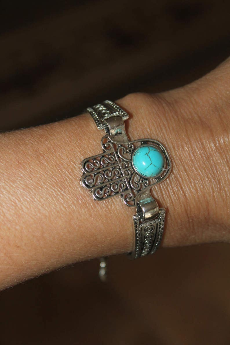 Hamsa bracelet Hamsa Hamsa charm bracelet charm bracelet hamsa Evil eye bracelet hamsa bronze silver