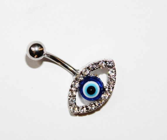 Belly Ring Belly Button Ring Navel Ring Evil Eye Ring Evil Eye Belly Ring Evil Eye Navel Ring Evil Eye Belly Button Ring